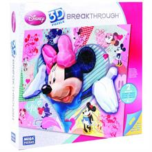 Mega  Bloks Puzzles 250 parça 3 Boyutlu Puzzle Breakthrough Minnie Mouse
