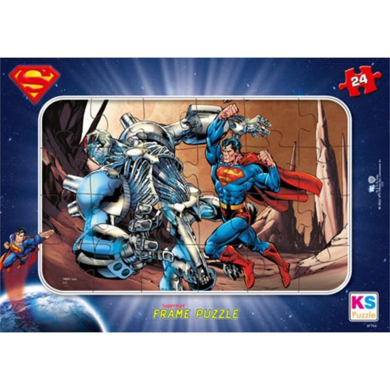 ks games 24 par a frame ocuk puzzle superman ks games kssp704. Black Bedroom Furniture Sets. Home Design Ideas
