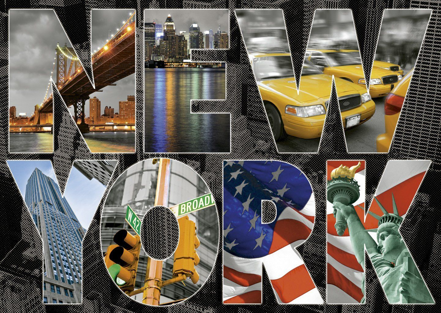 Educa New York Collage 1000 Parça Puzzle
