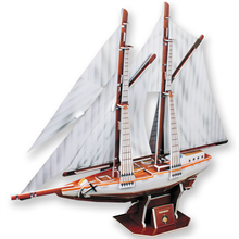 Cubic Fun 3D Two-Masted Schooner Karton Maket (81 Parça)