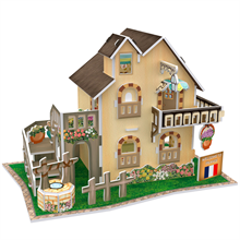Cubic Fun 3D 36 Parça Puzzle French Garden Cottage