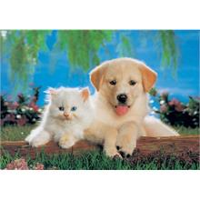 KS Games Puzzle 200 Parça Cat and Dog Puzzle