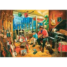 Art Puzzle 1500 Parça Cross Roads Music Shop Puzzle
