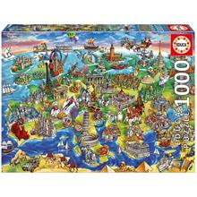 Educa 16752 1000 Parça European World Puzzle