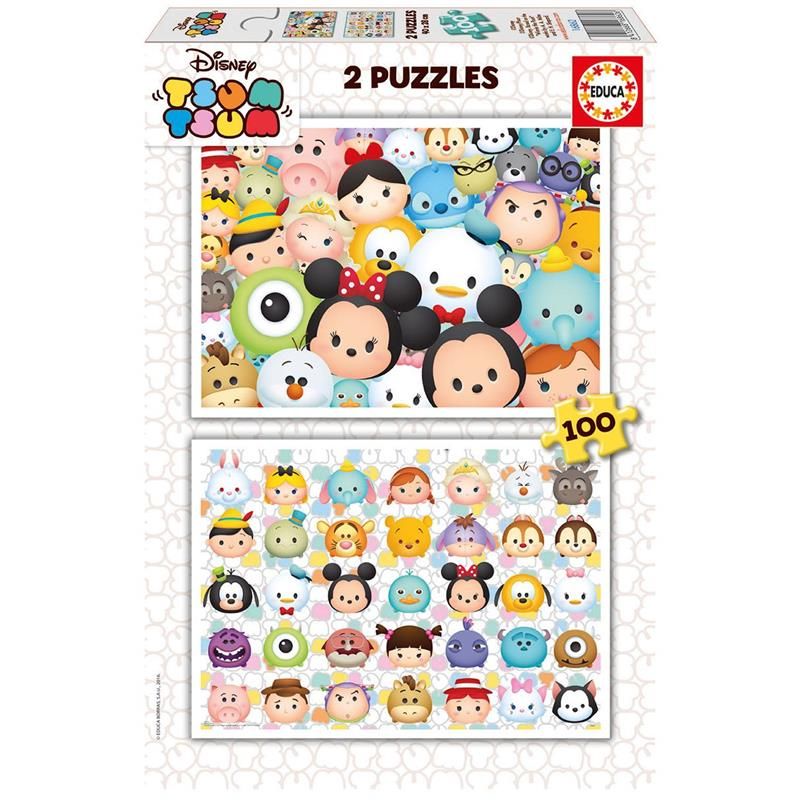 educa 2x100 par a disney tsum tsum puzzle educa edu16862. Black Bedroom Furniture Sets. Home Design Ideas