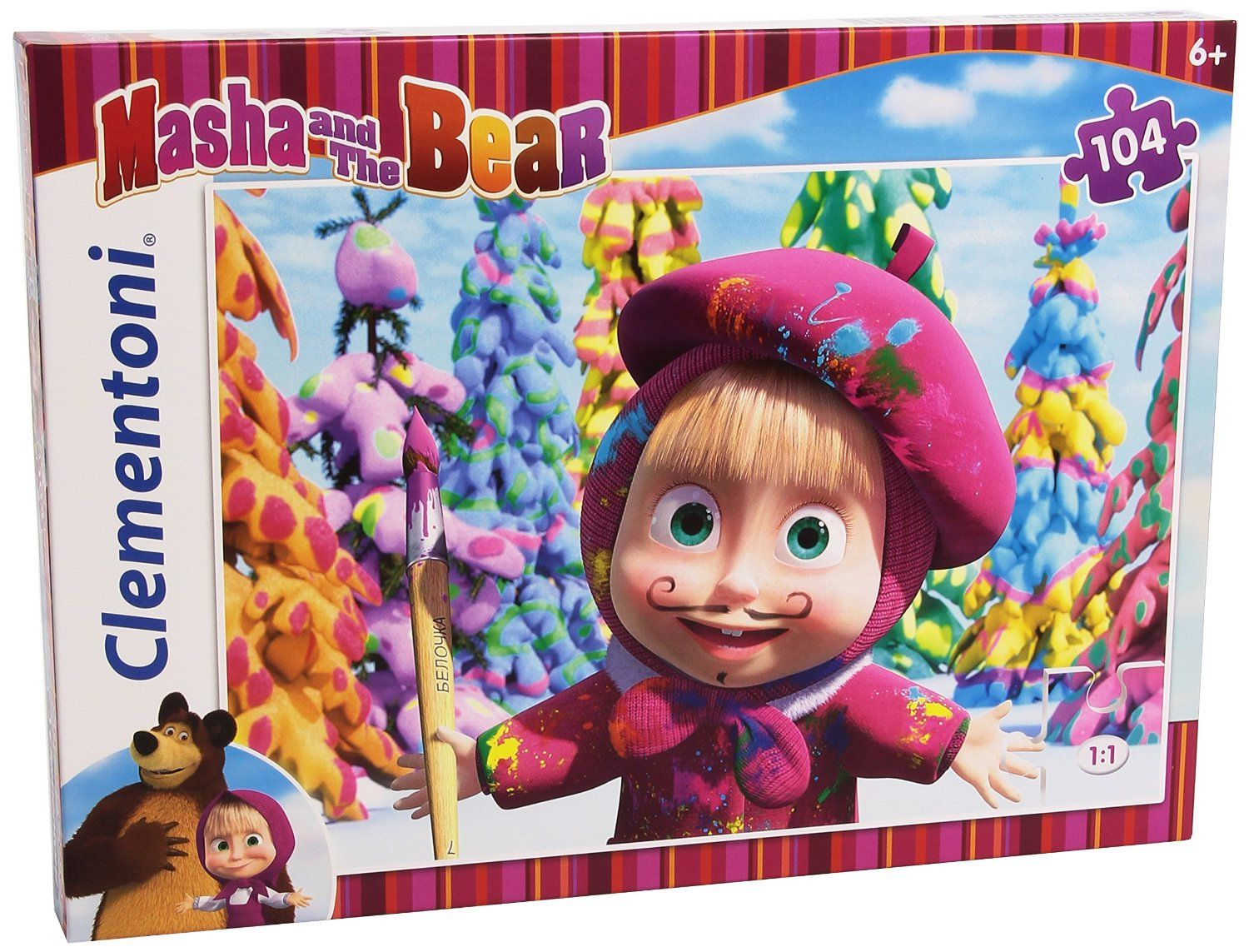 Clementoni 27934 - Masha and The Bear 104 Parça Puzzle