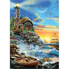 Ks Games 500 Parça Twilight Lighthouse Puzzle (Adrian Chesterman)