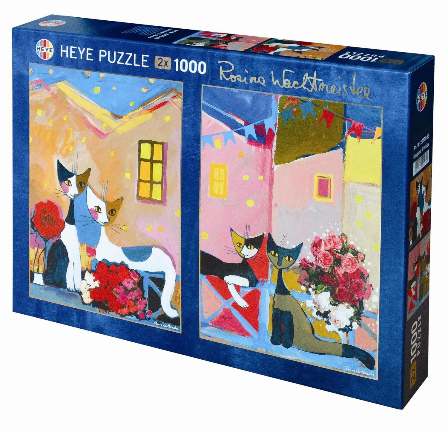 Heye 2x1000 ParçaBouquest and Posies Puzzle (Wachtmeister)