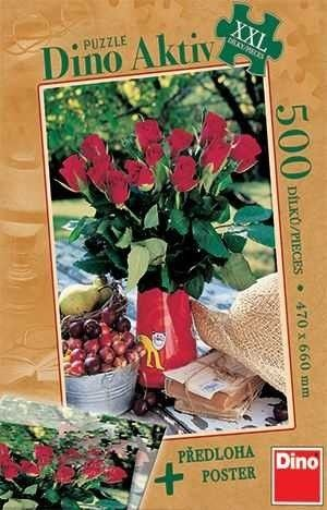 Dino Puzle 500 Parça Roses - Active Collection (Maxi Puzzle)