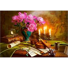 Castorland 1500 Parça Puzzle - Still Life with Violin and Flowers
