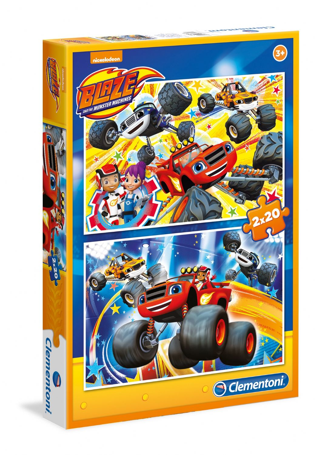 Clementoni 2x20 Parça Blaze The Monster Machine Puzzle