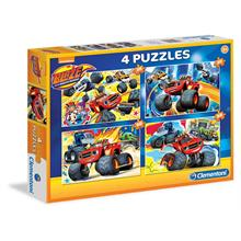 Clementoni 4 lü 20+20+60+60 Blaze The Monster Machine Puzzle