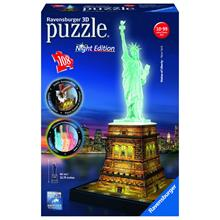 Ravensburger 3D Liberty Night Plastik Puzzle (108 Parça)