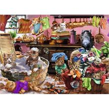 Ravensburger 150 Parça Cats in Kitchen Puzzle