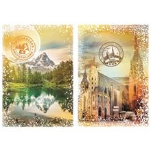 Grafika 2000 Parça Travel Around The World (Austria and Switzerland) Puzzle