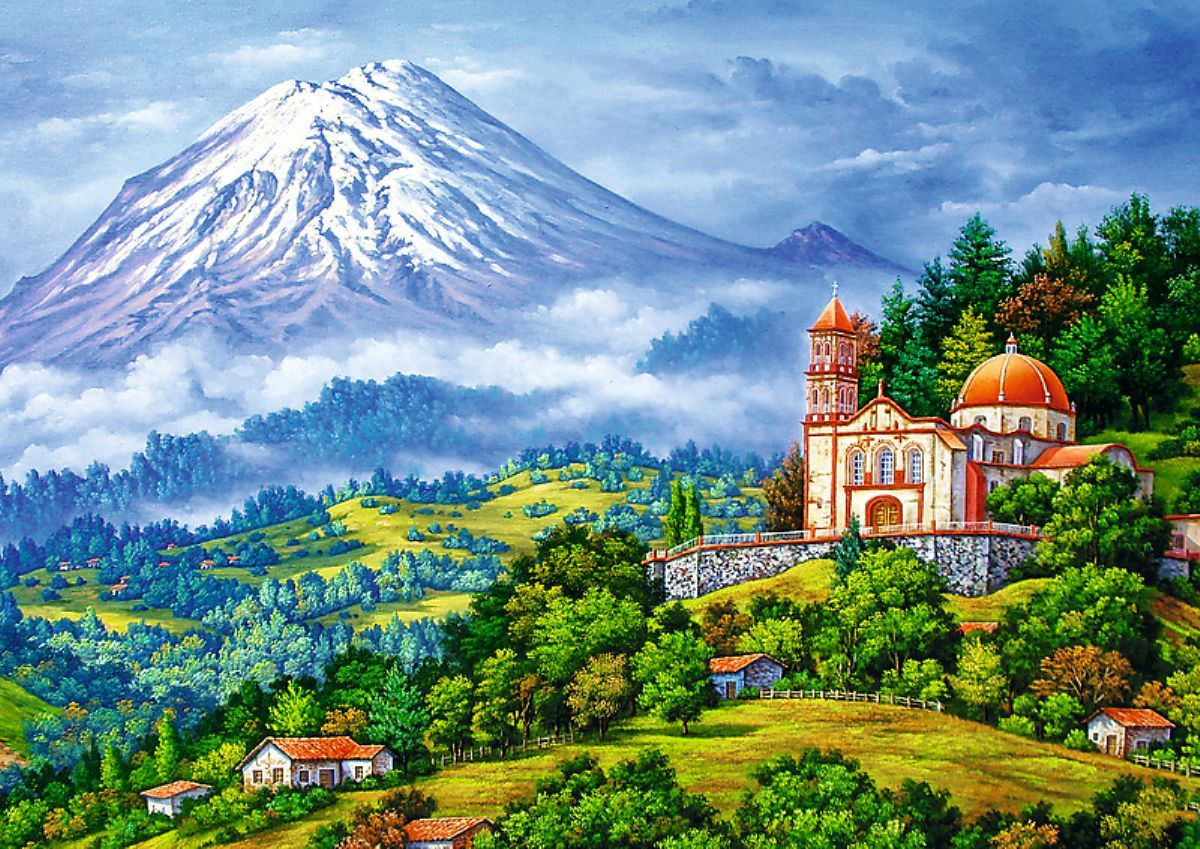 Trefl 1000 Parça Landscape with the Volcano Puzzle