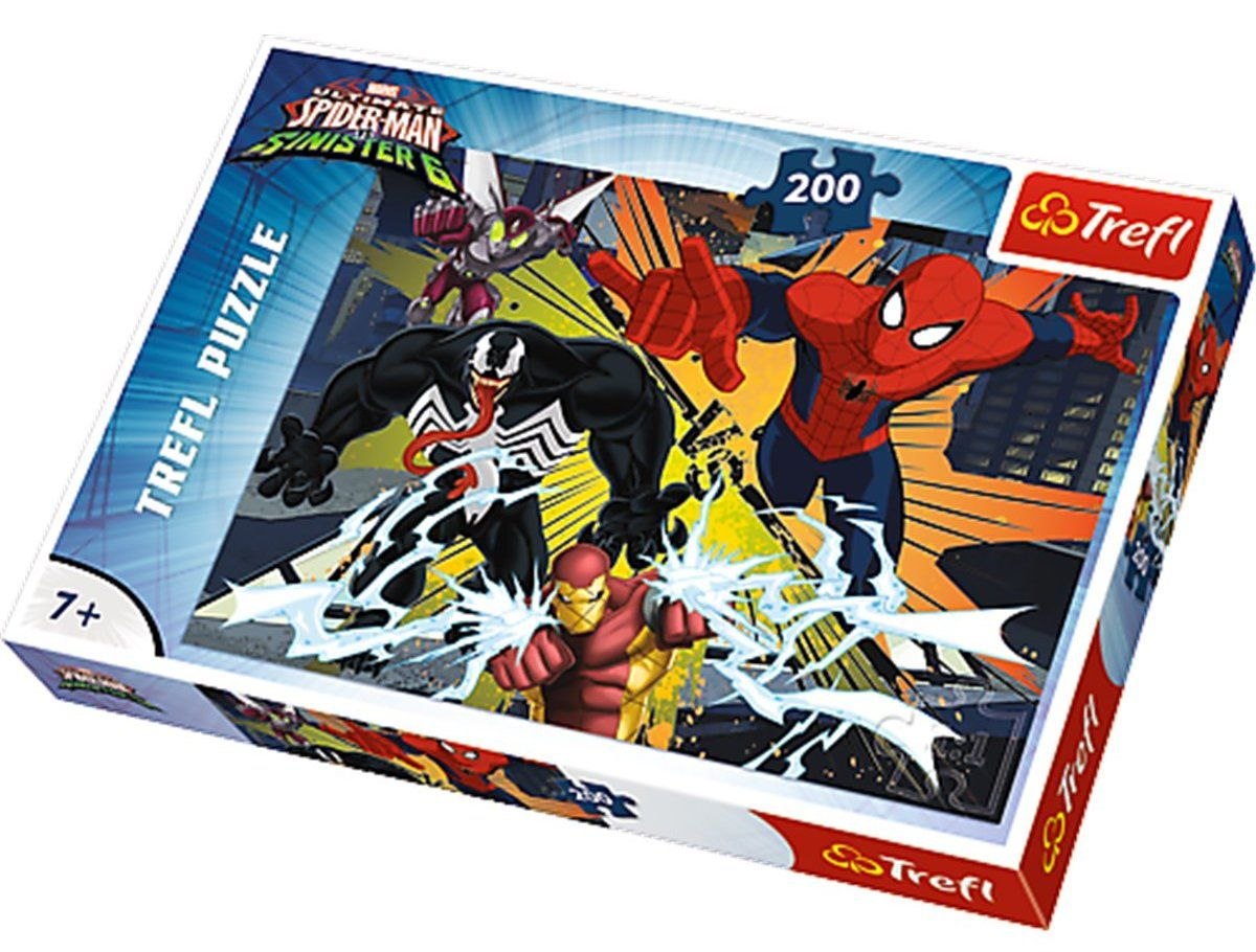 Trefl 200 Parça The Clash Spiderman Puzzle