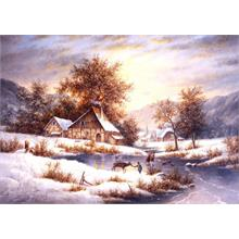 Grafika 1000 Parça Amber Sky Of Winter Puzzle