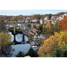 River Nidd at Knaresborough Falcon 1000 Parça Puzzle