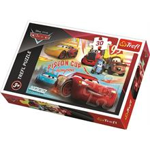 Trefl 30 Parça Cars 3 Champion Team Disney Puzzle
