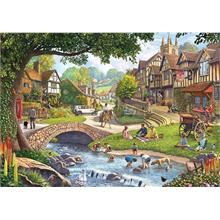 KS Games  Summer Village Stream 1000 Parça Puzzle- Steve Crips