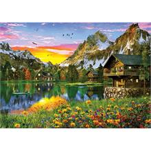 KS Games 4000 Parça Alpine Lake Puzzle Dominic Davison