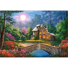 Castorland 1000 Parça Puzzle Cottage in the Moon Garden