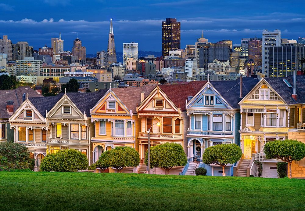 Castorland 1000 Parça Painted Ladies San Francisco Puzzle