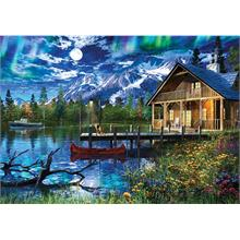 Ks Games 3000 Moonlit Lake House Puzzle