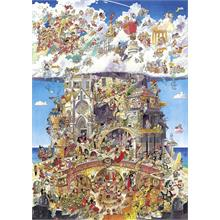 Heye 1500 Parça Puzzle Heaven and Hell Prades
