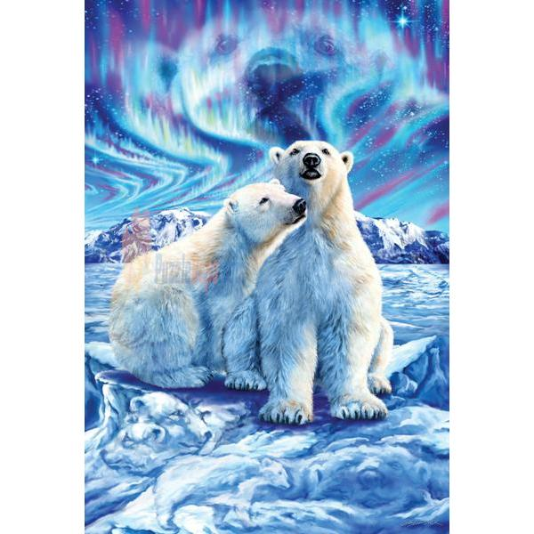 Masterpieces 500 Parça Neon Puzzle Polar Bear Lights