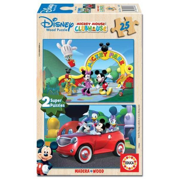 Educa 2 x 25 Parça Mickey Mouse Club House