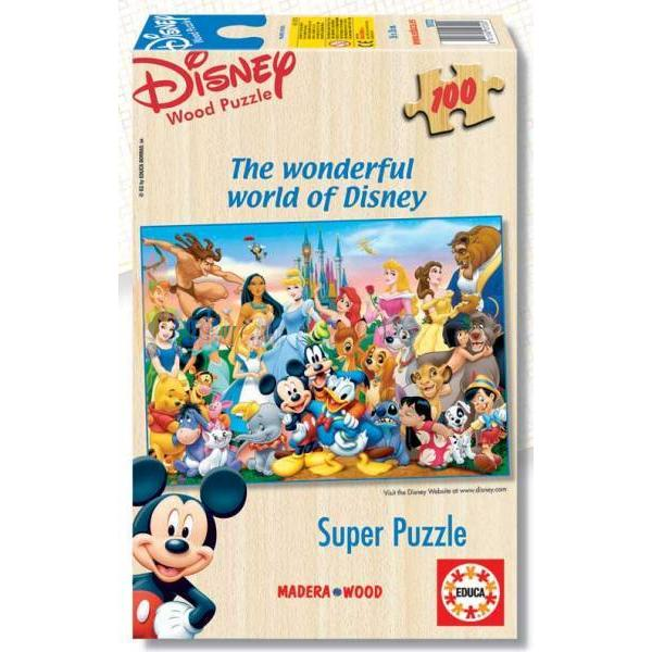 Educa 100 Parça Ahşap Puzzle Wonderful World of Disney