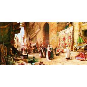 Kahire de halı pazarı