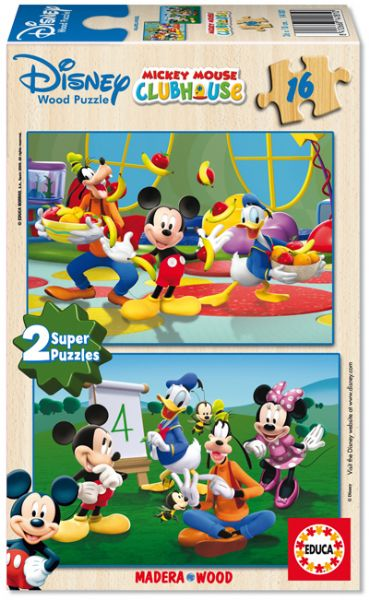 Educa 2x16 Parça Puzzle Mickey Club House