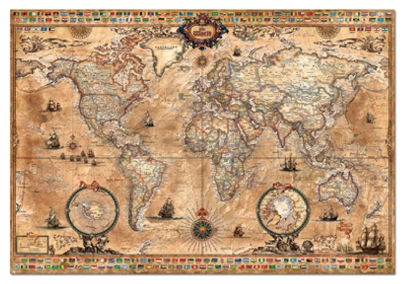 Educa 1000 Parça  Antique World Map
