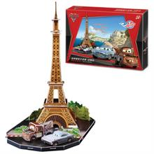 Cubic Fun Disney Cars 2 Dünya Grand Prix Paris 3D Puzzle