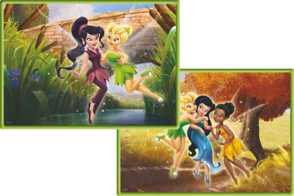 Ks Games 2 li Puzzle 35 + 60 Parça Disney Fairies