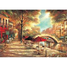 Ks Games 500 Parça Puzzle Riverwalk Cafe
