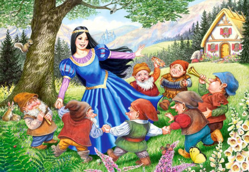 Castorland 40 Parça Maxi Snow White and the Seven Dwarts