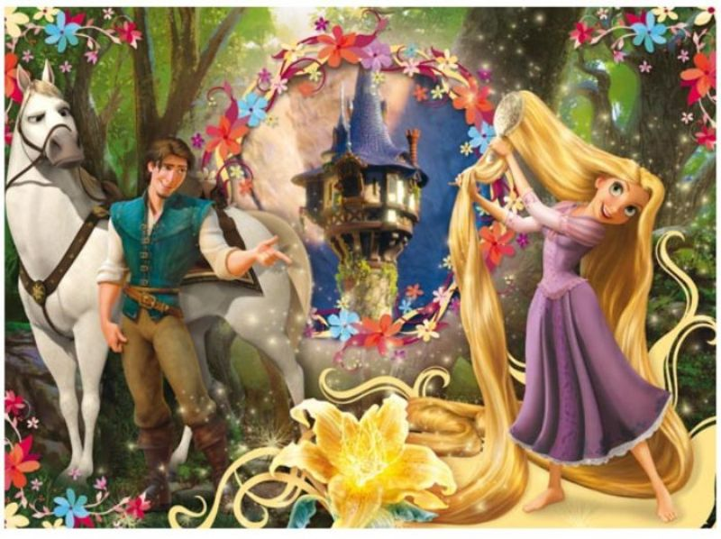 Cleemntoni 104 Parçalık Rapunzel Puzzle Let Down Your Hair