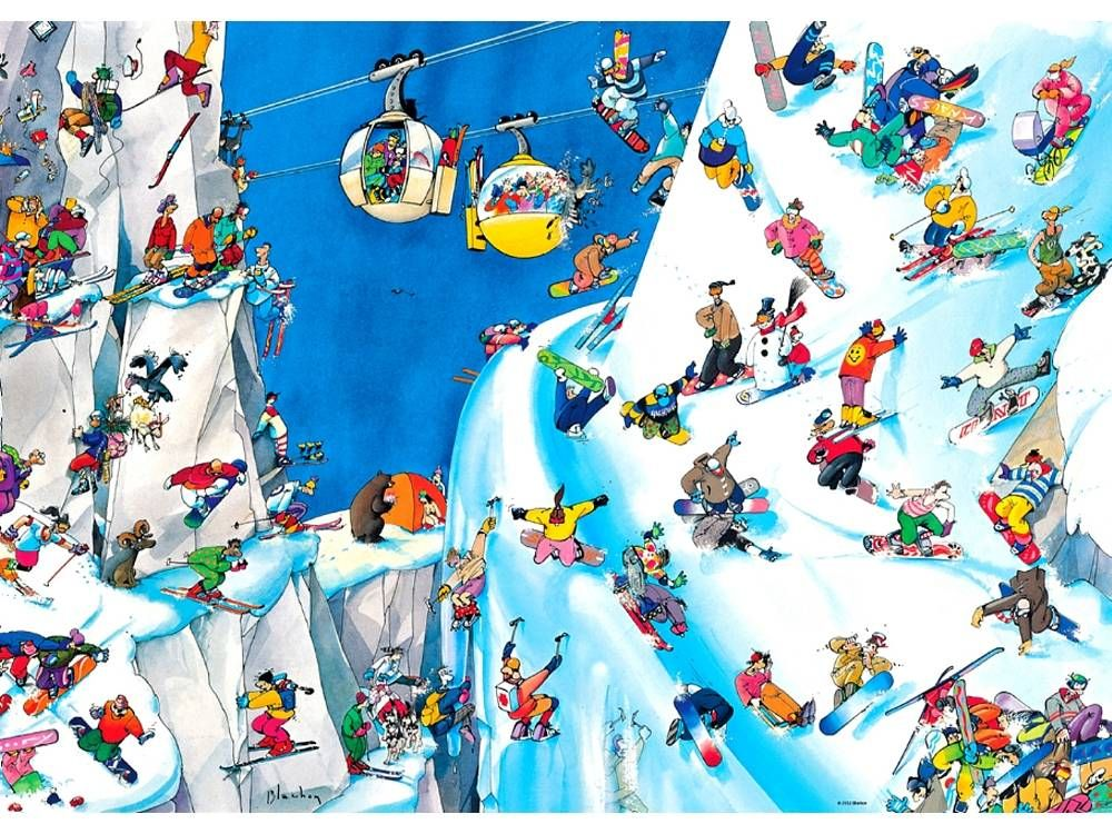 Heye 1000 Cartoon Yapboz Snowboards