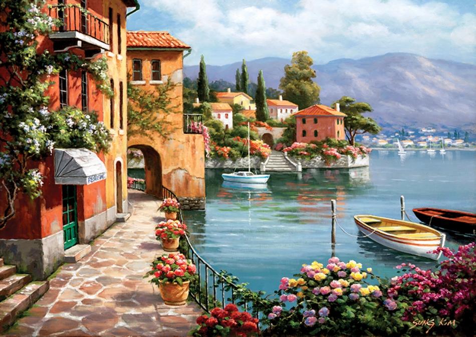 Anatolian 1500 l k puzzle villa de lago anatolian ant04524 for Dipingere quadri moderni