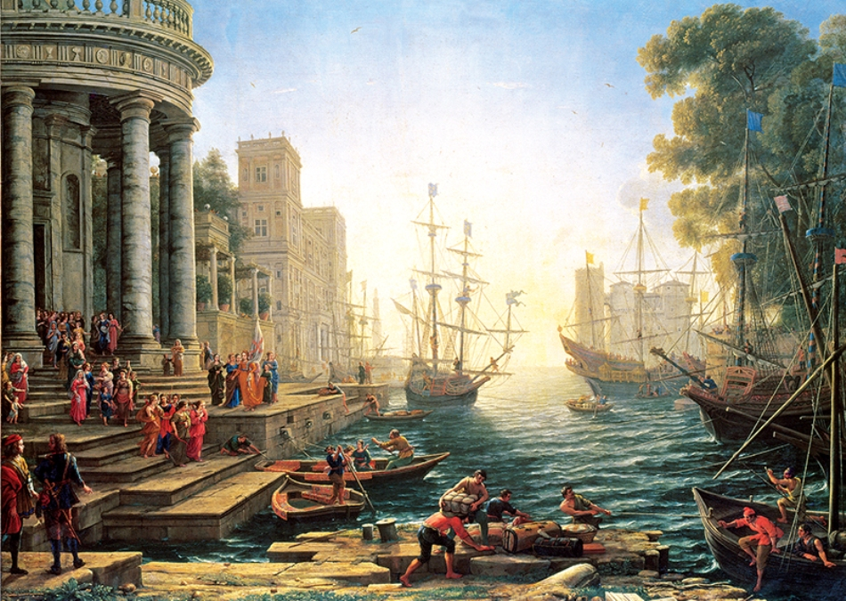 Anatolian Seaport with the Embarkation of St. Ursula 3000 Parça Puzzle