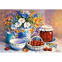 Castorland 500 Parça Natürmort Puzzle Cherries in China Basket