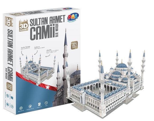 Pal Sultan Ahmet Camii 321 Parça 3D Puzzle/Maket - Pal Oyuncak - PAL00238